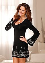 Melrose Rhinestone Detailed Jersey Dress