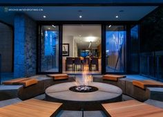 Social Circle - contemporary - Firepits - Vancouver - Sticks and Stones Furniture