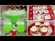 Quick & Easy Holiday Treats - Grinch Punch, Snowman Donuts, Hot Cocoa Cupcakes - Do you want to do any of these?