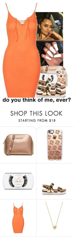 """☀️✨"" by monimassacre ❤ liked on Polyvore featuring Michael Kors, Casetify and Topshop"
