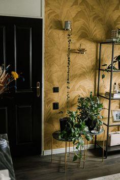 Binnenkijken in mijn werkplek met het Arte Monsoon gouden behang - Glam Living Room, Home And Living, Inspiration Wall, Interior Inspiration, Marcel, Interior Styling, Interior Design, Happy New Home, Bathroom Plans