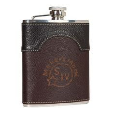 A handsome, durable, embossed leather flask.