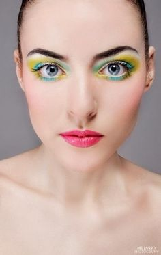 Love the #rainbow effect on the #eyes