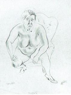 Otto Dix - Nudo seduto, 1920
