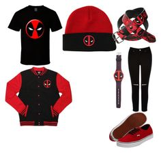 """""""deadpool"""" by yaxel ❤ liked on Polyvore featuring Oasis and Vans"""