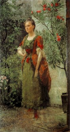 Emilie Louise Flöge (born 30 August 1874 in Vienna and died 26 May 1952 in Vienna) was an Austrian designer, fashion designer and businesswoman. She was the life companion of the painter Gustav Klimt.