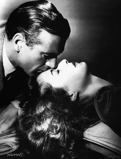 Barbara Stanwyck and Gary Cooper, publicity shot for Meet John Doe 1941.