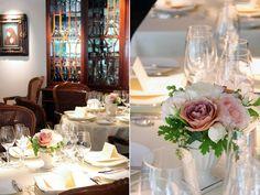 ゲストテーブル,装花,アレンジ,シック,ピンク,バラ