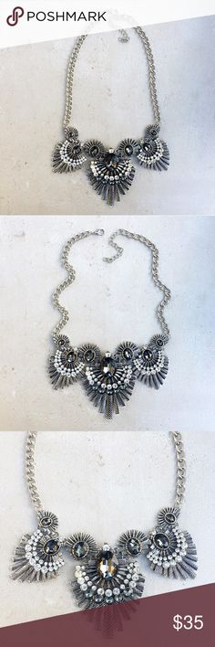 Silver statement necklace Art Deco silver statement necklace. Stunning in person!! Jewelry Necklaces
