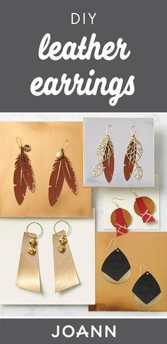 We love making our own accessories—and you will too when you check out this project idea for DIY Leather Earrings from JOANN. Using the helpful tutorial, you'll want to make this stylish leather and gold jewelry for all your girlfriends!