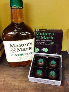 Maker's Mark mint julep truffles | Art Eatables | http://www.yelp.com/biz/art-eatables-louisville-3
