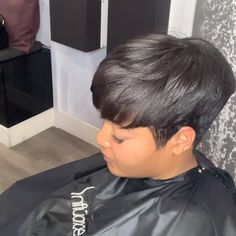 Achieve beautiful pixie cuts like using Influance Hair Care Products! asymmetrische Haarschnitte Beautiful Pixie Hairstyles for Short Hair Short Quick Weave Hairstyles, Short Relaxed Hairstyles, Short Hair Styles Easy, Short Pixie Haircuts, Medium Hair Styles, Curly Hair Styles, Short Ethnic Hairstyles, Black Pixie Haircut, Black Pixie Cut