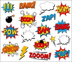 You will receive a zip file containing 18 superhero comic text clip art elements. Each image is saved separately in png file with transparent background. Images are 6 high, high quality (300 dpi) allows to resize them without loosing quality . You will also get a 15 PNG file with transparent background containing all images at once. Perfect for scrapbooking, invitations, cards, web design and other design purposes. Only personal and small commercial use are allowed. This is an INSTANT DO...