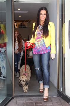 An injured Kyle Richards paid a visit to her Beverly Hills store with her canine companion on May 2. Hopefully her furry friend took on the role of guide dog and kept Kyle safe!