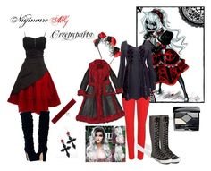 """""""Nightmare Ally-Creepypasta"""" by melcarr91 ❤ liked on Polyvore featuring 7 For All Mankind, Converse, claire's, Prada, Christian Dior and Joomi Lim"""
