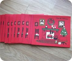 Vintage 50s Set of 14 Christmas Cards Norcross Mid Century Modern MADMEN From The Two Of Us