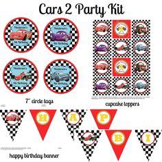 Cars 2 Birthday Party Kit Cars Birthday Cars 2 by telisavl5,