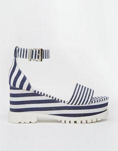 Stripes, platforms, all's thats missing is a grey sock!