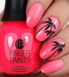 50 Amazing Nail Art Ideas by Nails By Cambria Beach Nail Designs, Bright Red Nails, Vacation Nails, New Nail Polish, Beach Nails, Manicure Set, Types Of Nails, Professional Nails, Nail Technician
