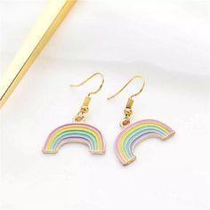 Rainbow Pastel Earrings – Lizzys Abode$6 Rainbow Pastel, Pastel Fashion, Drop Earrings, Dress, Jewelry, Costume Dress, Jewellery Making, Dresses, Jewlery