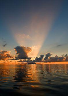 Sunset, Silhouette Island, Seychelles