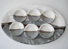 Image result for how to glaze a ceramic platter with landscape