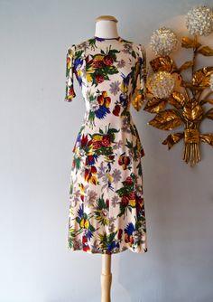 30s Dress // Vintage 1930s