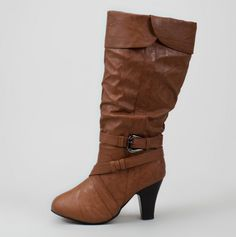 Slouch Boot with Heel - Winter Boots $19