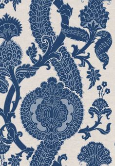 Stylish indigo fabric by F Schumacher. Item 173902. Low prices and free shipping on F Schumacher fabric. Always first quality. Find thousands of luxury patterns. Swatches available. Width 54 inches .