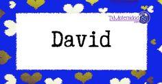 El nombre de niño David es de origen Persa y su significado es  'El que protege del mal'.