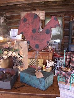 """Love this large wooden chicken!!  We """"borrowed"""" a similar pattern...my hubby cut it out...I painted and primmed it...and while it isn't as professional looking as the original... standing alone it looks great!!   Yea!!!"""