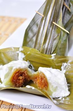 Khanom Si Sai-  Sweet Stuffed Dough Thai Dessert - FoodTravel.tv Recipe