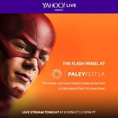 Watch Grant Gustin, Jesse L. Martin , Tom Cavanagh , Candice Patton , Rick Cosnett, Danielle Panabaker , and Carlos Valdes at the Paley Center for Media exclusively on Yahoo Screen at 8:10 pm EST /5:10 PT!