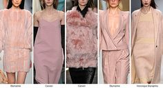 Varying shades of #pink from #mauve to #blush   Fall Winter 2014-15 Color Trends