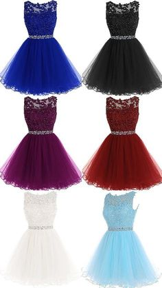 A-Line Sleeveless Lace Rhinestone Short Cocktail Party Dress, Shop plus-sized prom dresses for curvy figures and plus-size party dresses. Ball gowns for prom in plus sizes and short plus-sized prom dresses for Junior Homecoming Dresses, Cute Prom Dresses, Dresses For Teens, 15 Dresses, Pretty Dresses, Dresses Online, Quinceanera Dresses Short, Evening Dresses, Pageant Dresses