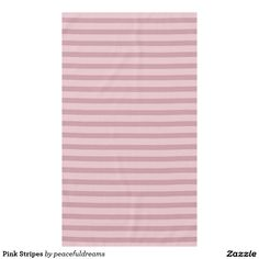 Pink Stripes Tablecloth