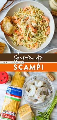 Ever wondered how to make Shrimp Scampi? It's so quick and easy! In just 15 minutes, you can have this delicious pasta dish. Who says you can't enjoy homemade dinner as good as this on busy weeknights? Mixed Seafood Recipe, Best Shrimp Recipes, Lobster Recipes, Easy Pasta Recipes, Easy Dinner Recipes, Simple Recipes, Shrimp Dishes, Pasta Dishes, Damn Delicious Recipes