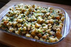 The ultimate Thansgiving stuffing (dressing) at So Inviting!