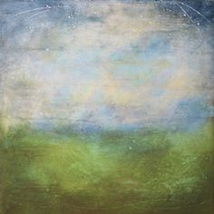 "Linda Cordner, 24""x24"" encaustic on board."
