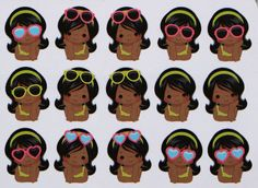 African American Summer Time Girl Stickers for by hellostickers