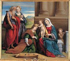 Incoronazione di Santa Caterina. Con bottega. Prima del 1550. Olio su tavola. Pinacoteca Capitolina.