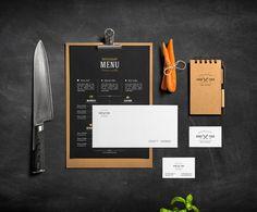 Restaurant & Bar /Stationery Mock-Up on Behance