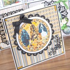 How adorable it this from the Best of Breeds Range! Shop now at Create… Main Theme, Animal Cards, Sympathy Cards, Card Designs, Handmade Cards, Cardmaking, Birthday Cards, Card Ideas, Dog Cat