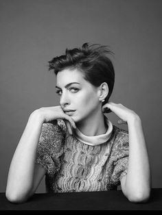 Anne Hathaway photographed by David Slijper for Harper's Bazaar UK, February 2013