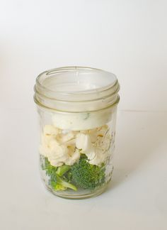 Healthy Snacks in Jars - Cauliflower and Broccoli