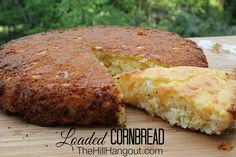 Homemade Cornbread - we added 1 cup flour to this recipe & only 1 cup cheese, also used chopped frozen corn instead of creamed & 2 eggs and one white instead of 3 eggs