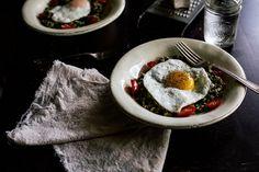 Farro risotto + pistachio pesto