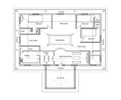 Architecture kerala three bedrooms in 1200 square feet 35x60 house plans