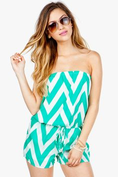 MINT FUCHSIA CHEVRON PRINT STRAPLESS JUMPSUIT,Latest Fashion ...