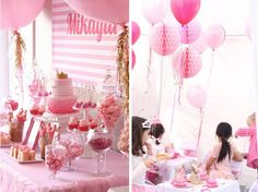A lot of way cute ideas here! Pinkalicious princess pink birthday party!